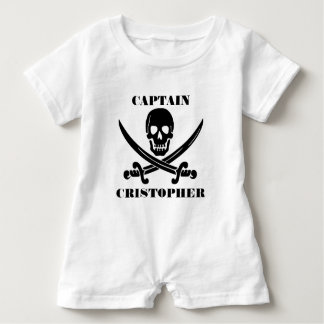 Pirate flag skull baby romper