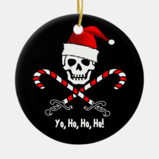Pirate Flag Yo Ho Ho Santa Christmas Ornament