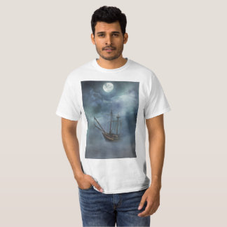 Pirate Ghost Ship in Fog T-Shirt