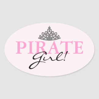 Pirate Girl! Oval Sticker