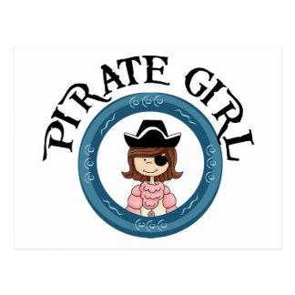 Pirate Girl Postcard
