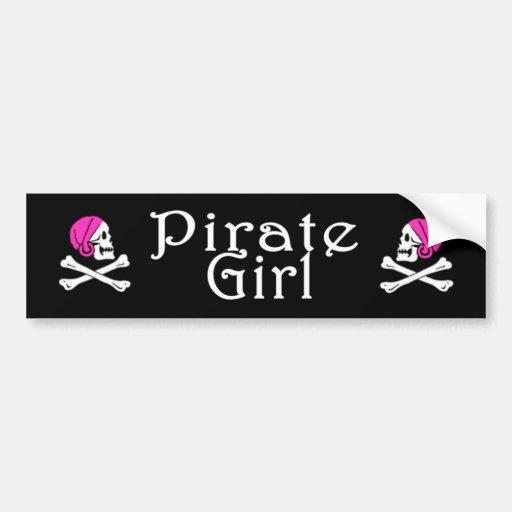 Pirate Girl Sticker Bumper Sticker