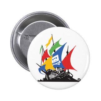 Pirate Google 2 Inch Round Button