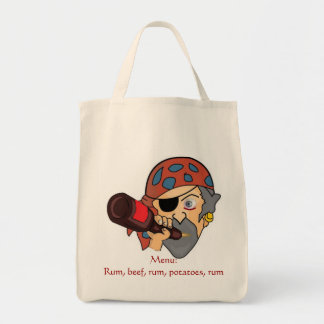 Pirate Grocery Tote