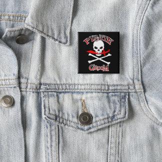 Pirate Groom 2 Inch Square Button