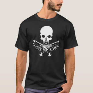Pirate Groom's Crew Dark T-Shirt