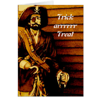 Pirate Halloween Card