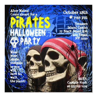 Pirate Halloween Party Invitation