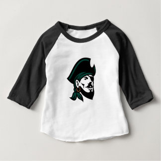 Pirate Head Eyepatch Looking Up Retro Baby T-Shirt