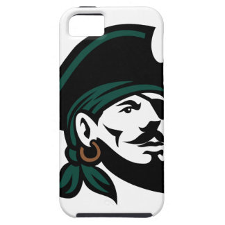 Pirate Head Eyepatch Looking Up Retro Case For The iPhone 5