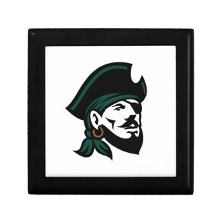 Pirate Head Eyepatch Looking Up Retro Gift Box