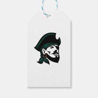 Pirate Head Eyepatch Looking Up Retro Gift Tags