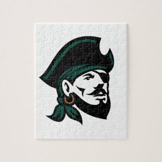 Pirate Head Eyepatch Looking Up Retro Jigsaw Puzzle
