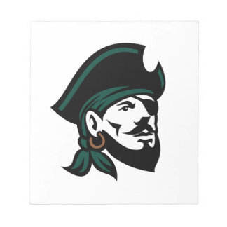 Pirate Head Eyepatch Looking Up Retro Notepad