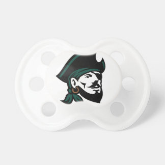 Pirate Head Eyepatch Looking Up Retro Pacifier