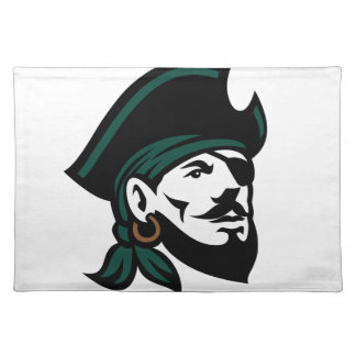Pirate Head Eyepatch Looking Up Retro Placemat