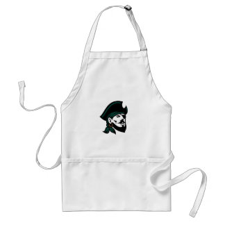 Pirate Head Eyepatch Looking Up Retro Standard Apron