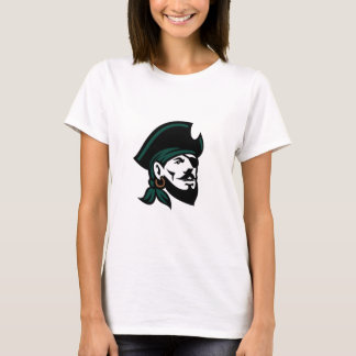 Pirate Head Eyepatch Looking Up Retro T-Shirt