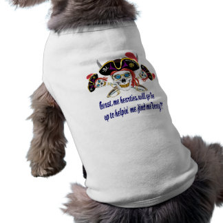 Pirate HELP Find Me Booty! Dog T Shirt