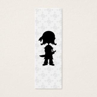 Pirate in Silhouette Bookmark Mini Business Card