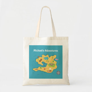 Pirate Island Adventure Treasure Map For Boys Tote Bag