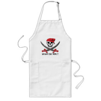 Pirate Jolly Roger Bar Drinks Apron