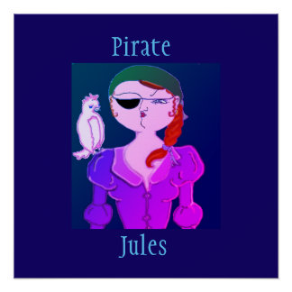 Pirate Jules The Eco Pirate - Poster