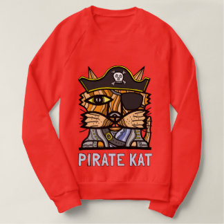 """Pirate Kat"" Men's Raglan Sweatshirt"