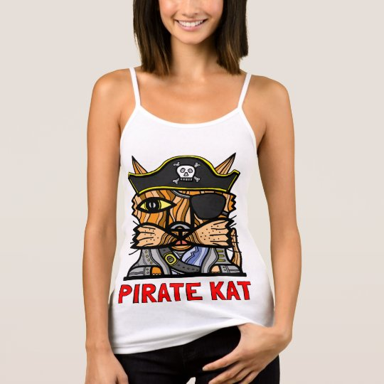"""Pirate Kat"" Women's Spaghetti Strap Tank Top"