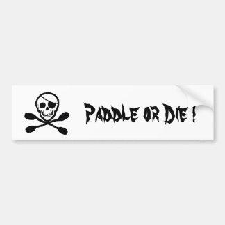 Pirate Kayak Flag Bumper Sticker