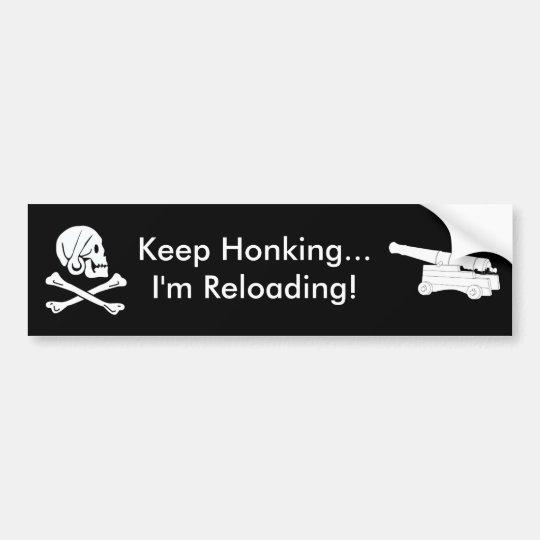 Pirate Keep Honking Bumper Sticker