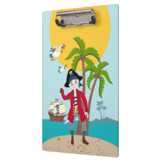 Pirate kid birthday party clipboards