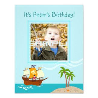 Pirate kid birthday party invitation