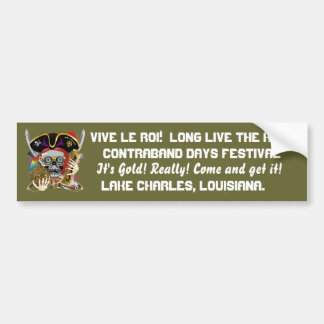 Pirate King Change text Important View Hint Bumper Sticker