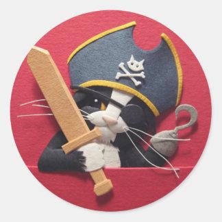 Pirate Kitten Stickers
