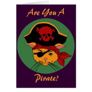 Pirate Kitty or Pretty Princess? Birthday Card