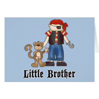 Pirate Little Brother Note Card