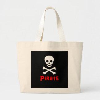 Pirate logo large tote bag