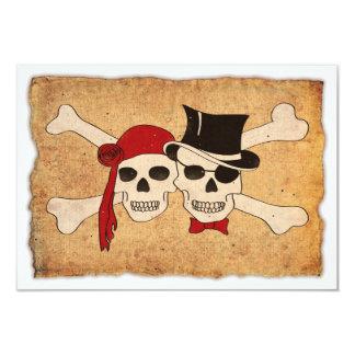 """pirate love 3.5"""" x 5"""" invitation card"""