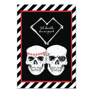 "pirate love 3.5"" x 5"" invitation card"