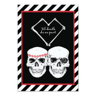 pirate love 3.5x5 paper invitation card