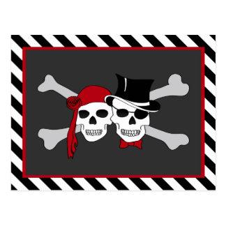pirate love postcard