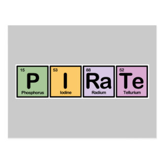 Pirate made of Elements Post Cards