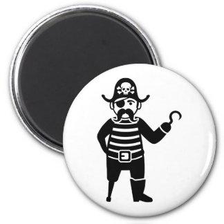 Pirate Magnet Rond 8 Cm