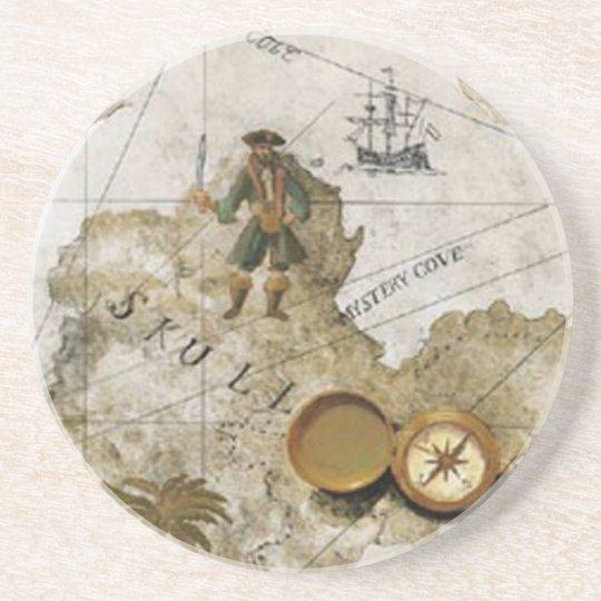 Pirate Map Coaster