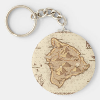 Pirate Map Keychain