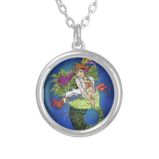 Pirate Mermaid Silver Plated Necklace