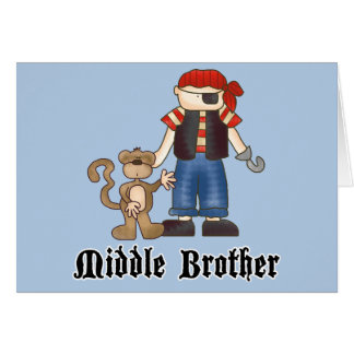 Pirate Middle Brother Cards
