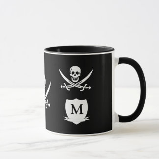 Pirate & monogram mug