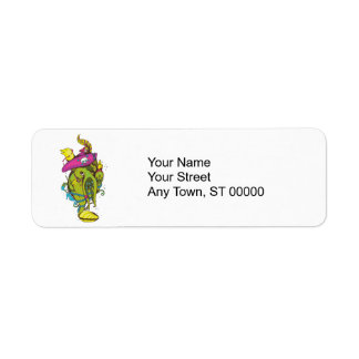 pirate monster squid octopus thing return address label